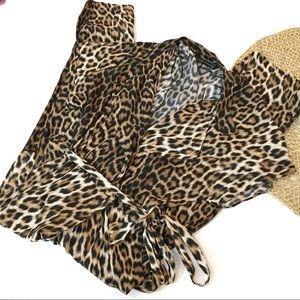 Zara | Leopard print jumpsuit | Small